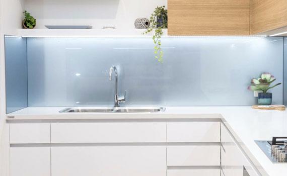 Glass Splashback Custom Design Display by DnD Glass Glazing Tweed Heads South